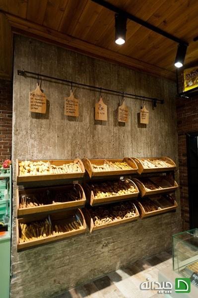 طراحی دکوراسیون داخلی مغازه قنادی - ویترین قنادی